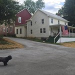farmhouse with new driveway